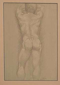 Vintage Academic Sketch of a Male Nude - 1963339