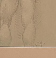 Vintage Academic Sketch of a Male Nude - 1963340