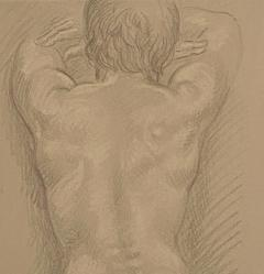 Vintage Academic Sketch of a Male Nude - 1963341