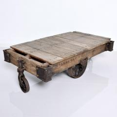 Vintage Antique Industrial Cast Iron Wood Coffee Table Lineberry Wilkesboro NC - 1180872