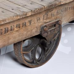 Vintage Antique Industrial Cast Iron Wood Coffee Table Lineberry Wilkesboro NC - 1180874