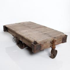 Vintage Antique Industrial Cast Iron Wood Coffee Table Lineberry Wilkesboro NC - 1180875