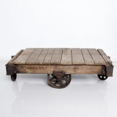 Vintage Antique Industrial Cast Iron Wood Coffee Table Lineberry Wilkesboro NC - 1180876