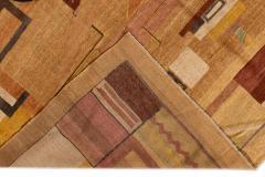 Vintage Art Deco Style Square Wool Rug - 1550965