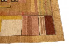 Vintage Art Deco Style Square Wool Rug - 1550975