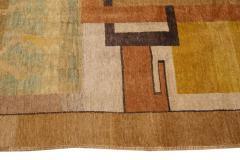 Vintage Art Deco Style Square Wool Rug - 1550976