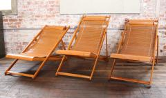 Great Vintage Bamboo Wood Japanese Deck Chairs Outdoor Fold Up Lounge Chairs    285346