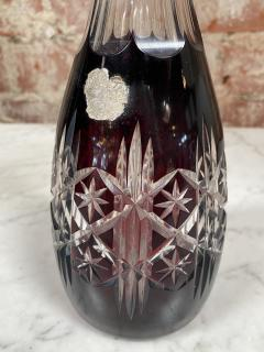 Vintage Beautiful Italian Mid Century Glass Bottle 1970s - 2073250