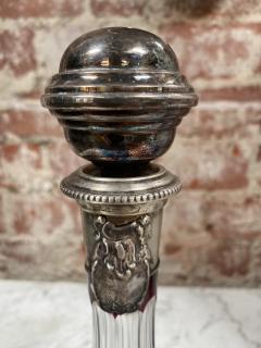 Vintage Beautiful Italian Mid Century Glass Bottle 1970s - 2073251