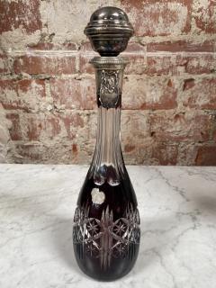 Vintage Beautiful Italian Mid Century Glass Bottle 1970s - 2073253