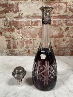 Vintage Beautiful Italian Mid Century Glass Bottle 1970s - 2073255