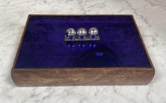 Vintage Blue Decorative Box Italy 1970s - 2111643