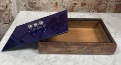 Vintage Blue Decorative Box Italy 1970s - 2111644