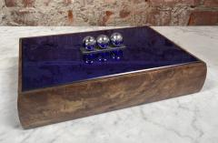 Vintage Blue Decorative Box Italy 1970s - 2111646