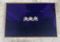Vintage Blue Decorative Box Italy 1970s - 2111649