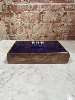 Vintage Blue Decorative Box Italy 1970s - 2111652