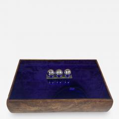 Vintage Blue Decorative Box Italy 1970s - 2112842