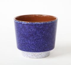 Vintage Blue Grey Ceramic Bowl West Germany c 1960s Stamped  - 1943643