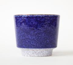 Vintage Blue Grey Ceramic Bowl West Germany c 1960s Stamped  - 1943644