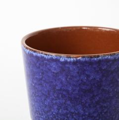 Vintage Blue Grey Ceramic Bowl West Germany c 1960s Stamped  - 1943648