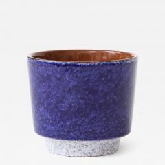 Vintage Blue Grey Ceramic Bowl West Germany c 1960s Stamped  - 1944266