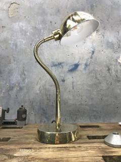 Vintage Brass Swan Neck Table Lamp - 1021284