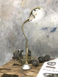 Vintage Brass Swan Neck Table Lamp - 1021285