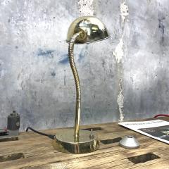Vintage Brass Swan Neck Table Lamp - 1021302