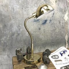 Vintage Brass Swan Neck Table Lamp - 1021304