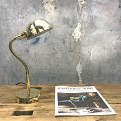 Vintage Brass Swan Neck Table Lamp - 1021314