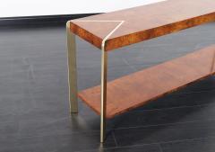 Vintage Burl Wood Console Table   215104