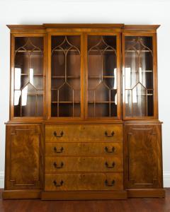 Vintage Burlwood Hutch China Cabinet   541546