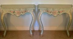 Vintage Cannell Chaffin Louis XV Style Console Table Nightstands a Pair - 2009733