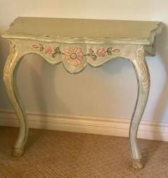 Vintage Cannell Chaffin Louis XV Style Console Table Nightstands a Pair - 2009737