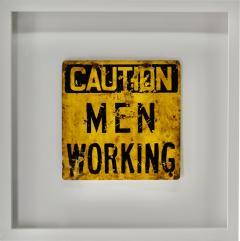 Vintage Caution Men Working  - 1716380