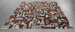 Vintage Cubist Style Rug - 1123385