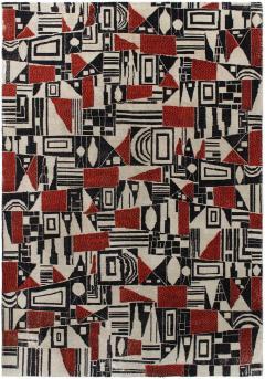 Vintage Cubist Style Rug - 1123387