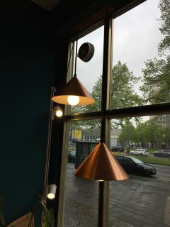Vintage Danish Copper Colored Pendant Light - 720723