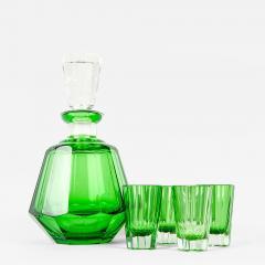 Vintage Daum Cut Crystal Liqueur Set - 71809