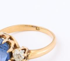 Vintage Deco Sapphire 18 K Gold Ring - 2088423