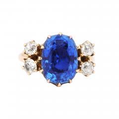 Vintage Deco Sapphire 18 K Gold Ring - 2089321