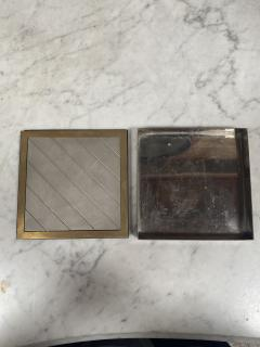 Vintage Decorative Box Silver and Gold Italy 1970s - 2074757