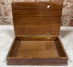 Vintage Decorative Italian Wood Box 1970s - 2078279