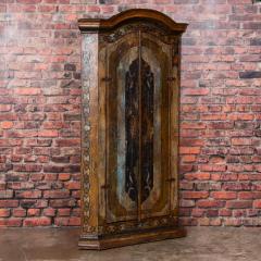 Vintage Decorative Painted 2 Door Corner Cabinet - 955468
