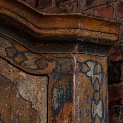 Vintage Decorative Painted 2 Door Corner Cabinet - 955475