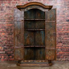 Vintage Decorative Painted 2 Door Corner Cabinet - 955476