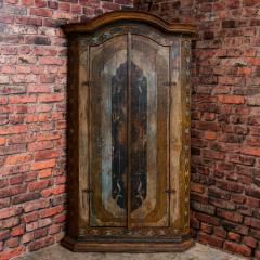 Vintage Decorative Painted 2 Door Corner Cabinet - 955477