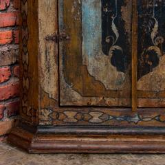 Vintage Decorative Painted 2 Door Corner Cabinet - 955478