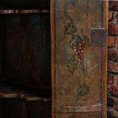 Vintage Decorative Painted 2 Door Corner Cabinet - 955480