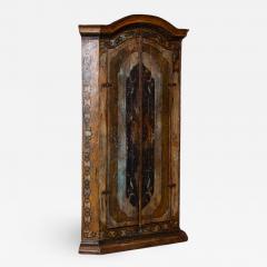 Vintage Decorative Painted 2 Door Corner Cabinet - 994983